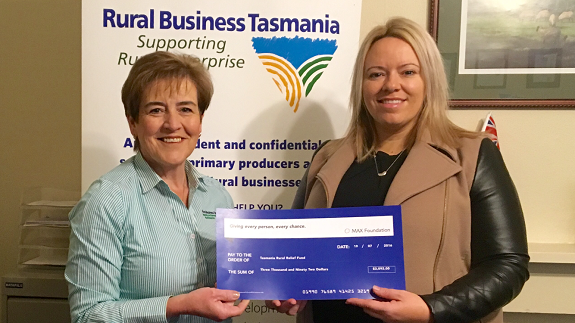 MAX Donation to Help Launceston Farmers