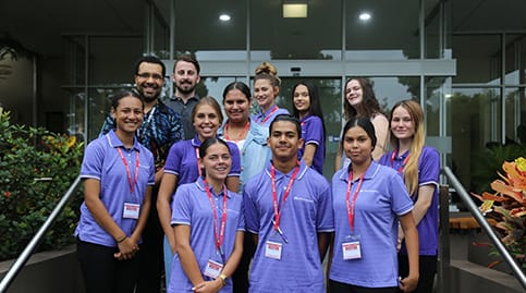 Indigenous trainees outside MAX Solutions head offices