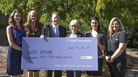 Cheque presentation to a local organisation