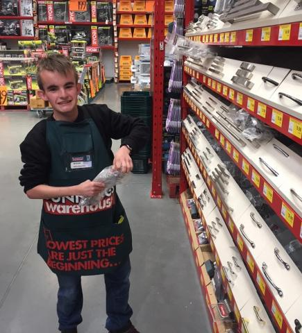 Morgan on the floor as the newest team member of Bunnings Mornington, TAS.