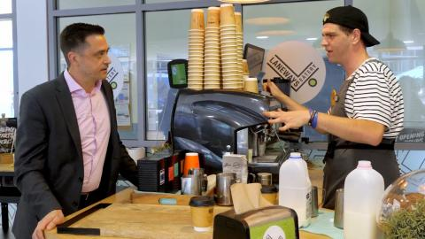 Compass serving up job skills for barista