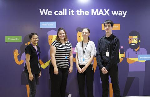 MAX welcomes Indigenous trainees Emma, Gabryella, Chrissy and Hayden to the team